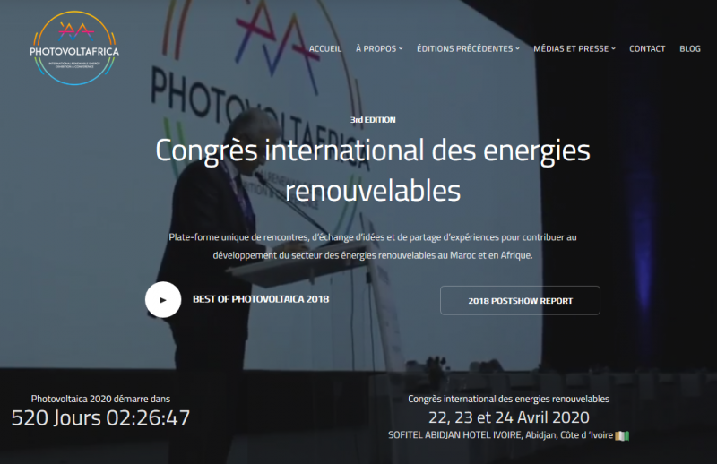 Under the patronage of King Mohammed VI the international trade fair and congress for solar panels and renewable energies, the PHOTOVOLTAÏCA, takes place at the Palais des Congrès in Marrakech. Since Morocco has already been on the cutting edge of this promising sector within Africa, the fair is the ideal platform to enter into business relations with local and international partners, exchange ideas and share experiences with renowned experts or to present projects that have already been initiated by government representatives. The fair offers the unique opportunity to make an important contribution to the country's transition to renewable energy and the realisation of efficient projects. The top-class event can also count on numerous delegations from different countries, such as Germany, Italy, China, France, Portugal, the Gulf States, etc.