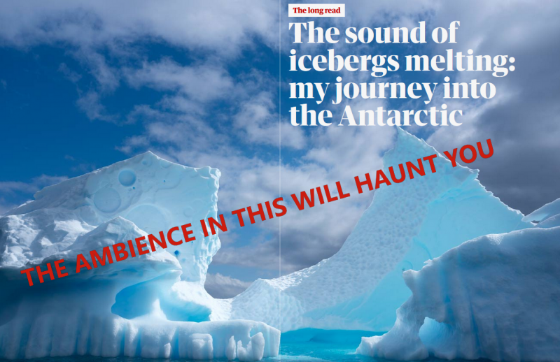 We set out across the ice-filled Antarctic bay to listen for whales, but first we heard something altogether different: an upside-down sound below the Southern Ocean, something like the sound of climate crisis itself.
