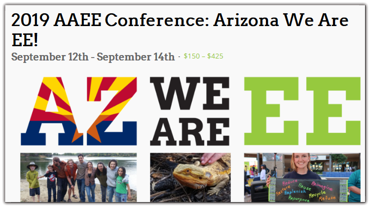 Join AAEE in beautiful Prescott, Arizona this fall for the largest event in Arizona that convenes educators, learners, leaders, and decision-makers to leverage the power of environmental education (EE).