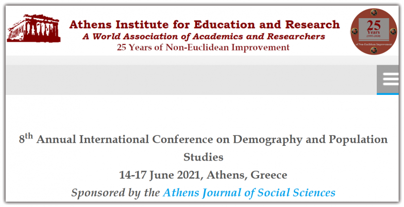 The  aim  of  the  conference  is  to  bring  together  academics and  researchers  from  all  areas  of  Demography  and  Population  and  other  related  disciplines.  You may  participate  as  stream  leader,  presenter  of  one  paper,chair of  a  session  or  observer.