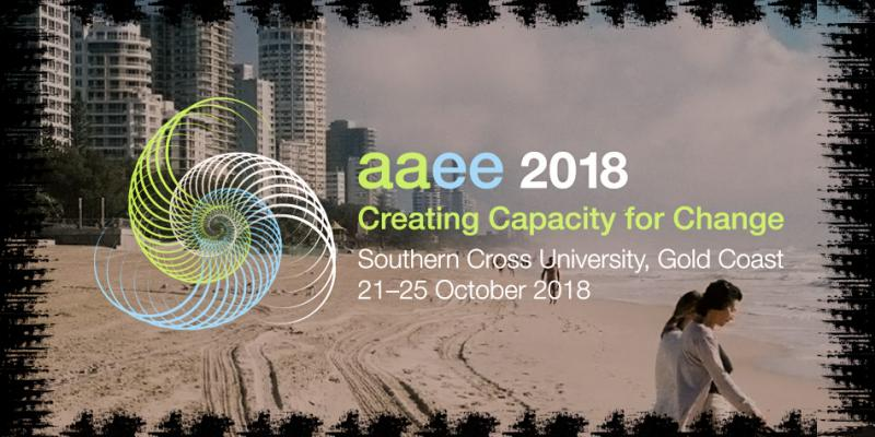 Creating Capacity for Change  Join us on the Gold Coast from 21-25 October 2018 for our 20th Biennial Conference and 3rd Research Symposium.  The Conference theme of Creating Capacity for Change builds on AAEE's strong tradition of sharing the latest in environmental education theory, policy and practice to support excellent environmental and sustainability education and build capacity for change in children, young people and adults.
