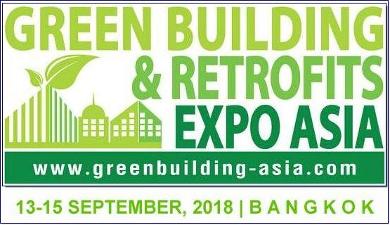 GBR Expo Asia, the international Exhibition & Conference on Green Building & Retrofits held in Thailand for the Asia Market. There will be showing case of new technology of products, services and solution for green building and retrofits. The leading exhibition which expect more than 10,000 of trade visitors from the building & construction and facilities professionals.  GBR Expo Asia will be co-located with the other three expos namely BMAM Expo Asia and CONCRETE Asia, which create 3-in-1 mega expo called The Asian Construction Week.
