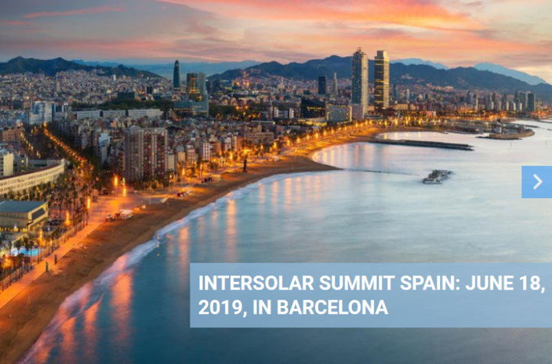 Spain's first-choice conference for solar energy and corporate sourcing  SolarPower Europe and Spanish Solar Association, UNEF, have teamed up with the Intersolar organizers to shed light on Europe's new solar boom market – Spain. Intersolar Summit Spain takes place in Barcelona on June 18, 2019. We are going to discuss the PV market development in Spain, the chances and opportunities of the announced grid parity, corporate sourcing models, regulation and policy issues. The event will bring together the key stakeholders in this market, which is being driven by auctions and increasingly by subsidy-free corporate sourcing of solar power.
