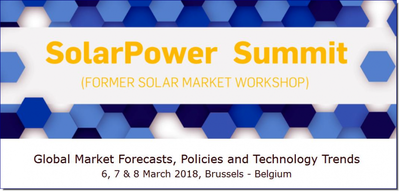 The 13th annual SolarPower Summit is recognized throughout the solar sector as the most important event on the development of global solar markets. It is a unique opportunity to discuss policy, business and technology changes. Learn about market trends, identify business opportunities and network with leading sector analysts, experts and key industry stakeholders.