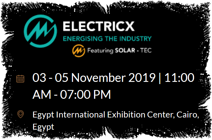 Welcome to Electricx, featuring SOLAR-TEC  The leading power exhibition and conference in North Africa brings together over 300 manufacturers and suppliers of power solutions from across the globe.   Based in Egypt, Electricx has set itself as the central business hub for key regional and international market leaders in power generation, transmission and distribution and renewable energy. With the growth to cover more than 12,500 sqm, the exhibition is a truly international gathering of more than 10,000 power distributors and retailers, consultants, government representatives, electrical engineers and purchasersbfrom Egypt and neighbouring countries.