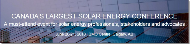 Network and build relationships with Canada's most important solar energy professionals Discover the latest innovations, technology, trends, and visions the industry has to offer Promote your brand as a key player in the solar energy industry