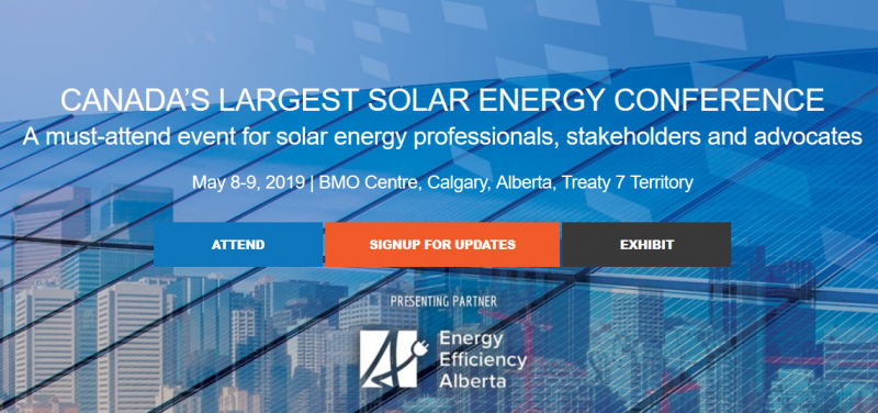 Top Reasons to Participate Network and build relationships with Canada's most important solar energy professionals Discover the latest innovations, technology, trends, and visions the industry has to offer Promote your brand as a key player in the solar energy industry