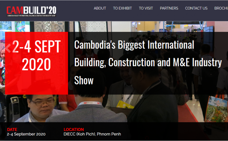 CAMBUILD 2020 – Cambodia's 10th International Building, Construction and M&E Industry Show is back in action. The Expo will be held at the Diamond Island Exhibition & Convention Centre from 2-4 September 2020, to meet the Kingdom's growing demand for innovative technology, equipment and supplies, in line with the building and construction sector's rapid expansion. Featuring over 300 companies and brands with Pavilions from China, India, Singapore, Italy, Malaysia, Taiwan, Thailand and Korea, this three-day event is truly an international stage for exhibitors to expand their business in Cambodia.