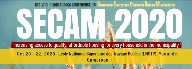 "The theme for  SECAM 2020 conference is ""Increasing access to quality, affordable housing for every household in the municipality""  ​  SECAM 2020 conference focus on how can African governments' commitment to these global targets be implemented in areas of water and energy, natural capital, circular economy, behaviour change, housing, technology, professional ethics, construction quality and leadership etc...?"