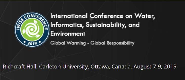 iWISE2019 is a three-day conference hosted at Carleton University, Ottawa on 7-9 August, 2019. The conference is co-organised by Ottawa Assembly of Knowledge and Science Target , in collaboration with local and international academic and professional bodies.  The conference is centered around the themes of water, informatics, sustainability, and the environment; all of which relate to global warming and climate change. Together, conference attendees will draw linkages between these themes, and learn about cutting-edge research, technology and practice in these fields. Field-leading experts will deliver keynote talks, while focused themed sessions will offer the opportunity to delve deeper into specific issues and solutions.  We are excited to welcome a diverse cohort of roughly one-hundred researchers and experts from across the world, representing a variety of organisations including government bodies, academic institutions, and NGOs.