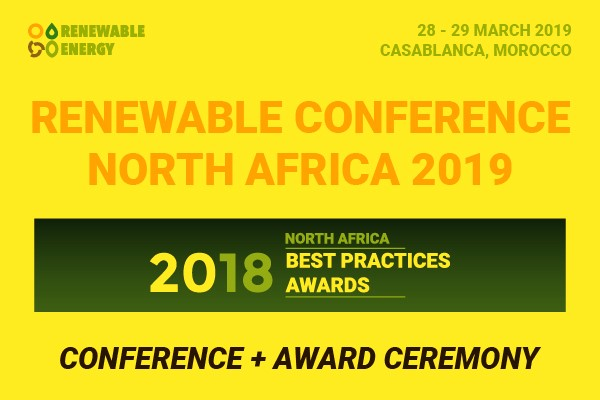 "We're delighted to invite you to the Renewable Conference North Africa 2019 (RCNA 2019) which is scheduled on 28 – 29 March 2019 in Casablanca, Morocco.  The RCNA 2019 will focus on four main topics: Solar Parks, Wind Farms, Energy Storage and Smart Grid. In the two-day event, we're going to invite 30 speakers from Morocco, Tunisia, Egypt, and Algeria. More than 200 delegates are estimated to join the event all over the world. This year's theme is ""New Era of North Africa Renewable""."