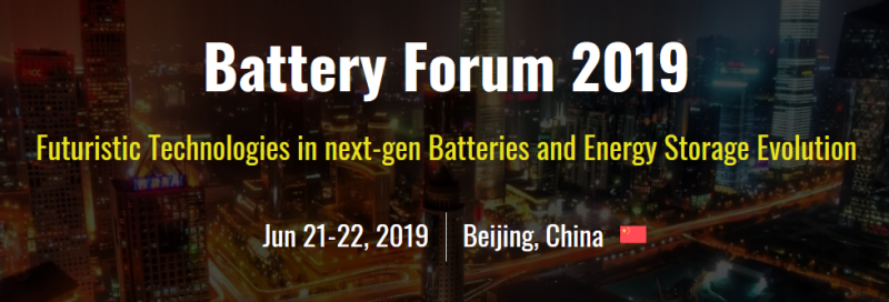 "Battery Technology - ""The Striking Change for the Energy Future""  Attend. Analyze. Accentuate!    The future of the way we make, transmit, and use power rests heavily on the shoulders of energy storage technology. Hence, Battery Forum 2019 – becomes a must-attend event which Watts up the present and future of Battery & Energy storage technologies with the Theme: Futuristic Technologies in next-gen Batteries & Energy Storage Evolution.  It gathers world's best executives, business professionals, researchers, engineers, and leading suppliers around the world. A robust, end-to-end showcase, this leading international event covers today's emerging advanced battery technology for the automotive, portable electronics, medical technology, military and telecommunications, and utility and renewable energy support sectors.  A golden opportunity to analyze the full spectrum of cutting-edge solutions that can create a smarter and cost-effective environment at a single platform. Attend this comprehensive research event at China's massive Capital - discover the trends and interpret results."