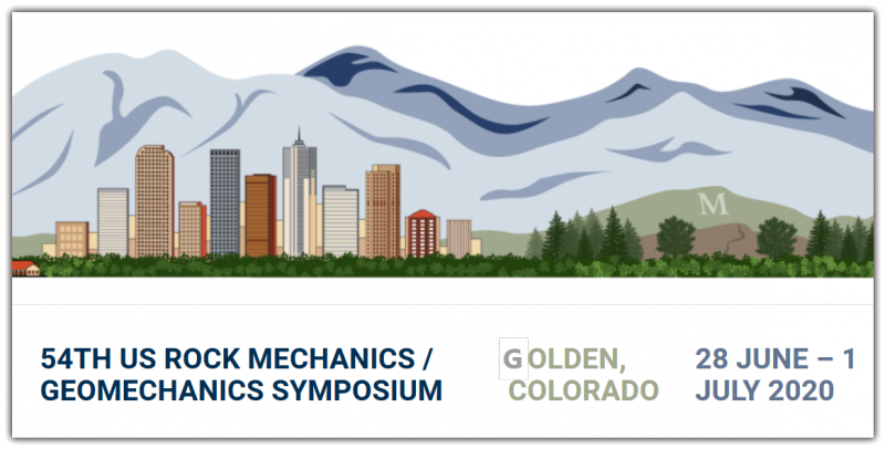 The American Rock Mechanics Association invites you to its 54th US Rock Mechanics / Geomechanics Symposium to be held in Golden, Colorado, USA, on 28 June – 1 July 2020. The 2020 program will focus on technical advances and innovative applied research in rock mechanics and geomechanics. Technical tours and field trips are being planned. Short courses and workshops will be held prior to the symposium.