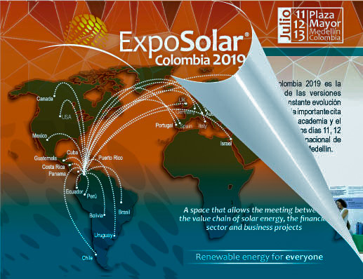 The exhibition on photovoltaic and solar systems, LED lighting, energy efficiency and electric mobility ExpoSolar Colombia will be held at the Plaza Mayor Convention and Exhibitions Center of Medellín, which is considered the second most important city of Colombia, both for its population density and for its industrial and commercial development. ExpoSolar is the most important fair of its kind in Colombia and is conceived as an international fair aimed at bringing together academics, entrepreneurs, distributors, marketers, the government and experiences from all fields of the solar industry in order to form sustainable energy cities and generate employment in Latin America.