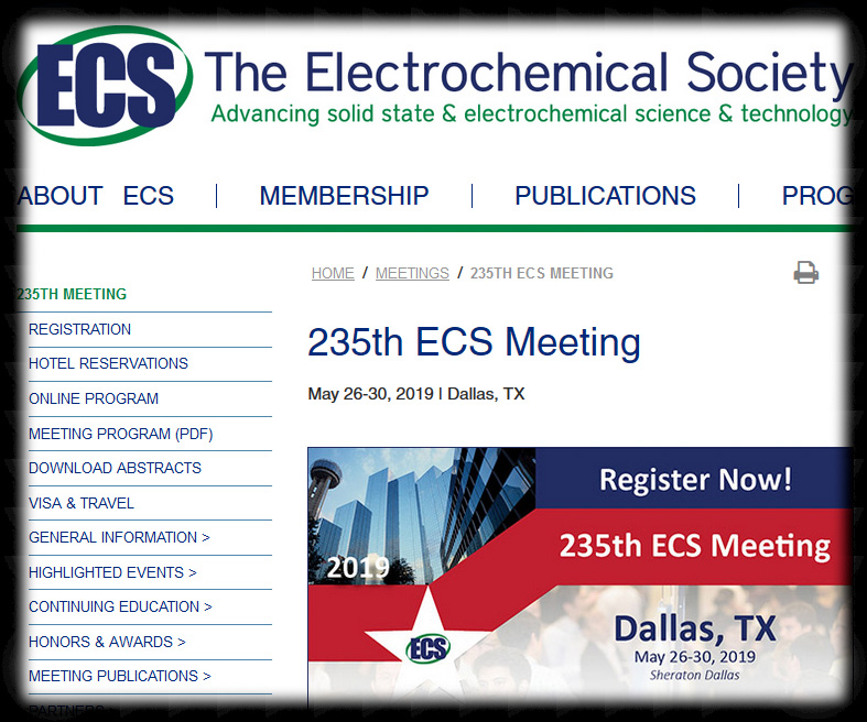 ECS biannual meetings are a forum for sharing the latest scientific and technical developments in electrochemistry and solid state science and technology. Scientists, engineers and industry leaders come from around the world to attend the technical symposia, poster sessions, and professional development workshops. Not to mention exciting networking opportunities and social events.
