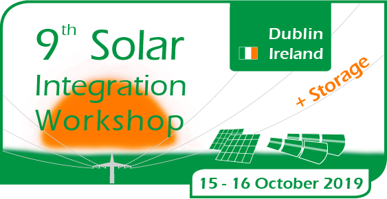 Shape the Future of RE Grid Integration!  Join us for the 9th Solar & Storage Integration Workshop from 15 – 16 October 2019 in Dublin.