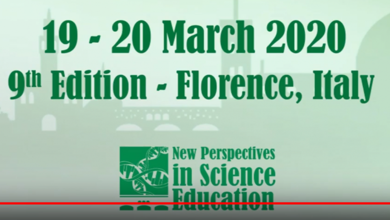The 9th edition of the New Perspectives in Science Education Conference will take place in Florence, Italy, on 19 - 20 March 2020. The objective of the Conference is to promote transnational cooperation and share good practice in the field of innovation for science education. The New Perspectives in Science Education Conference is also an excellent opportunity for the presentation of previous and current projects in the science field.  The Call for Papers is addressed to teachers, researchers and experts in the field of science education as well as to coordinators of science and training projects. Experts in the field of science teaching and learning are therefore invited to submit an abstract of a paper to be presented during the conference.
