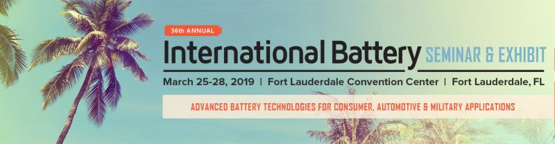 Founded in 1983, the International Battery Seminar & Exhibit has established itself as the premier event showcasing the state of the art of worldwide energy storage technology developments for consumer, automotive, military, and industrial applications. Key thought leaders will assemble to not only provide broad perspectives, but also informed insights into significant advances in materials, product development, manufacturing, and application for all battery systems and enabling technologies. As the longest-running annual battery industry event in the world, this meeting has always been the preferred venue to announce significant developments, new products, and showcase the most advanced battery technology.