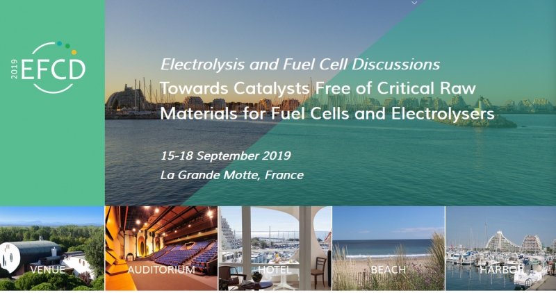 Following the success of EFCD2015 - Electrolysis and Fuel Cell Discussions, Challenges Towards Zero Platinum for Oxygen Reduction - in 2015, the Electrolysis and Fuel Cell Discussions conference in 2019 is dedicated to catalysts with minimum amount of Critical Raw Materials, and in particular of Platinum Group Metals. Catalysis of the oxygen reduction and hydrogen oxidation reaction in fuel cells leaning on either proton-exchange or anion-exchange membranes is a key for enabling their large-scale deployment. Similarly, catalysis of the oxygen and hydrogen evolution reactions is key for electrolyzers with polymer-based electrolytes. This conference is the opportunity to present recent results in the field and to discuss the scientific and technological challenges on the way towards zero platinum. Invited lectures, oral and poster presentations will provide an international perspective of the most recent research activities in this fast-moving area.