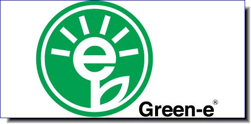 The Green-e logo means that an independent third party certified that the product meets strict consumer-protection and environmental standards