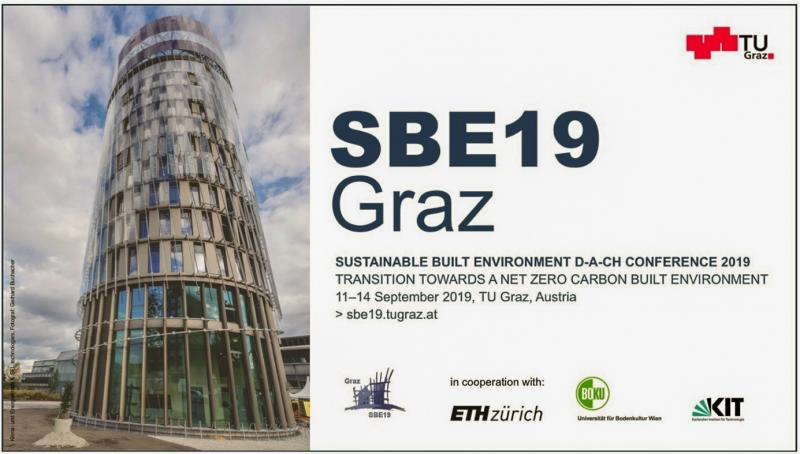 Scientists as well as representatives from the construction and real estate industry and politicians discuss how and with which methods, technologies and processes the goals of resource conservation and environmental protection, including social and economic issues from the level of construction products to buildings and up to neighborhoods and building stock can be achieved. The SBE19 Graz conference is part of a major international series of conferences that focus on sustainable buildings and construction. The series was launched by the International Council for Research and Innovation in Building and Construction (CIB) and the International Initiative for a Sustainable Built Environment (iiSBE) two de- cades ago, and these partners were subsequently joined by the Sustainable Building and Climate Initiative (SBCI) of UN Environment and the International Federation of Consulting Engineers (FIDIC).