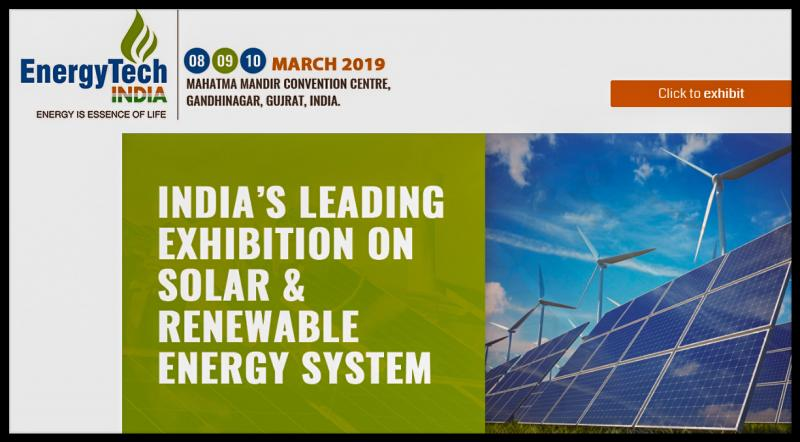 We are pleased to inform you that BSL Confrence & Exhibition Pvt Ltd is organizing Energy Tech India Expo 2019 from 8-9-10 March 2019 at Mahatma Mandir Convention Centre, Gandhinagar , Gujrat , India. Energy Tech India Expo provides the ultimate business solutions for the meetings and events industry, uniting an elite class of buyers from India and around the world. Exhibitors benefit from the opportunity to meet with a range of international and regional buyers who have the authority to place real business.  India is developing to reduce its dependence on conventional energy sources and become a leader in renewable energy with increased global awareness on environmental concerns and energy security.The promotion of renewable energy sources and technologies is one of the crucial strategies to bridge the demand- supply gap in the power sector in an environmentally sustainable manner as well as to pave the way for a strategic shift from future import dependence on fossil fuels the energy security angle.
