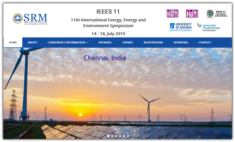 The 11 International Exergy, Energy and Environment Symposium (IEEES-11) is an initiative aimed at bringing together the academicians, researchers, scientists, technocrats and practicing engineers in the eld. As a confluence of many disciplines, this International Symposium/Conference serves as a forum that promulgates ideas, experience, and knowledge of the fellow researchers and engineers working on sustainable energy systems across the globe. It is worthy to note that IEEES-11 covers a diverse assortment of cutting-edge topics, including Clean Coal Technologies, Renewable Energy Technologies, Smart Energy Systems, Alternative Fuels, Hydrogen and Fuel Cell Technologies, Nuclear Energy, Desalination Technologies, and Environmental Technologies