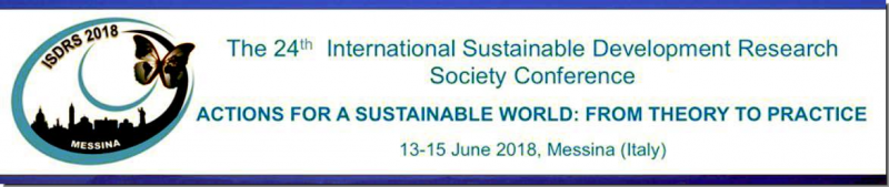 "The International Sustainable Development Research Society (ISDRS) Conferences represent a valuable occasion to discuss opportunities and challenges for a sustainable future bringing together the academic community and other stakeholders from around the world.  On the basis of this multi-year fruitful experience acquired by ISDRS, the theme of the 24th Annual Conference, ""Actions for a Sustainable World: from theory to practice"" (ISDRS 2018), aims to emphasize that we reached a cornerstone in the concept and practice of sustainable development. Indeed, the greatest challenge that humanity faces today is that we plan and carry out human activities in a manner compatible. with the Earth's resource systems Despite the fact that the concept of sustainable development has been developed and studied for several decades now, its practical application still seems limited and meaningful targets have not been met: indeed, we are still operating unsustainably."