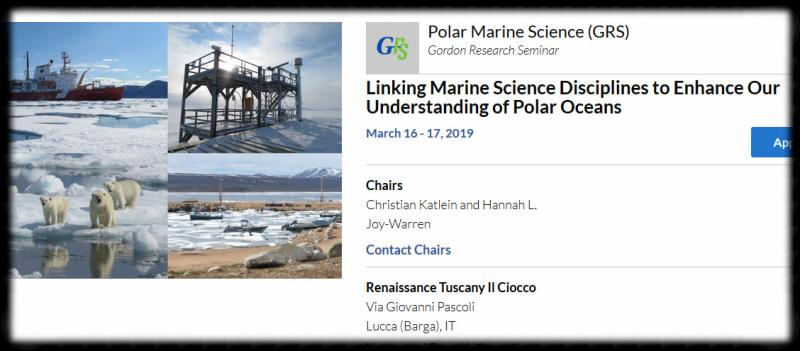 . The goal of this conference is to bring together graduate students and postdocs within all fields of polar marine science, including marine biology, chemistry, physics, geology, and technology to discuss interdisciplinary links and provide a basis for future collaborations. We especially encourage contributions that demonstrate interdisciplinary research approaches within and linking across the domains of atmosphere, sea ice, ocean, and benthos, including links to ice shelves, coasts, and human interactions.