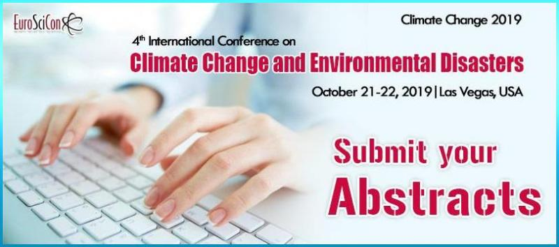 "EuroSciCon heartily welcomes every single person from across the globe to attend the ""4th International Conference on Climate Change and Environmental Disasters"" in Las Vegas, USA during the dates 21st and 22nd of October in the year 2019. The conference is enlightening its theme which is ""A Dream to build a planet free from climatic risks""."