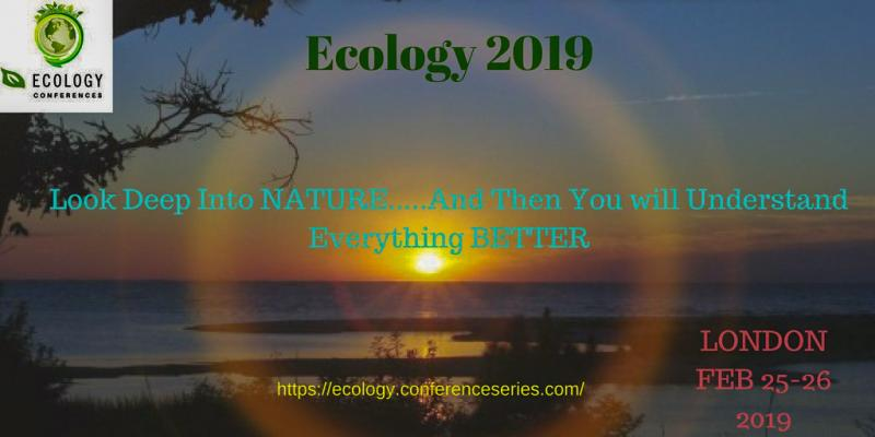 "Ecology 2019 is organized with the theme ""The future of ecosystem, Ecosystem for future"" ConferenceSeries Ltd organizes 1000+ Global Events inclusive of 300+ Conferences, 500+ Upcoming and Previous Symposiums and Workshops in USA, Europe & Asia with support from 1000 more scientific societies and publishes 700+ Open access journals which contains over 30000 eminent personalities, reputed scientists as editorial board members."