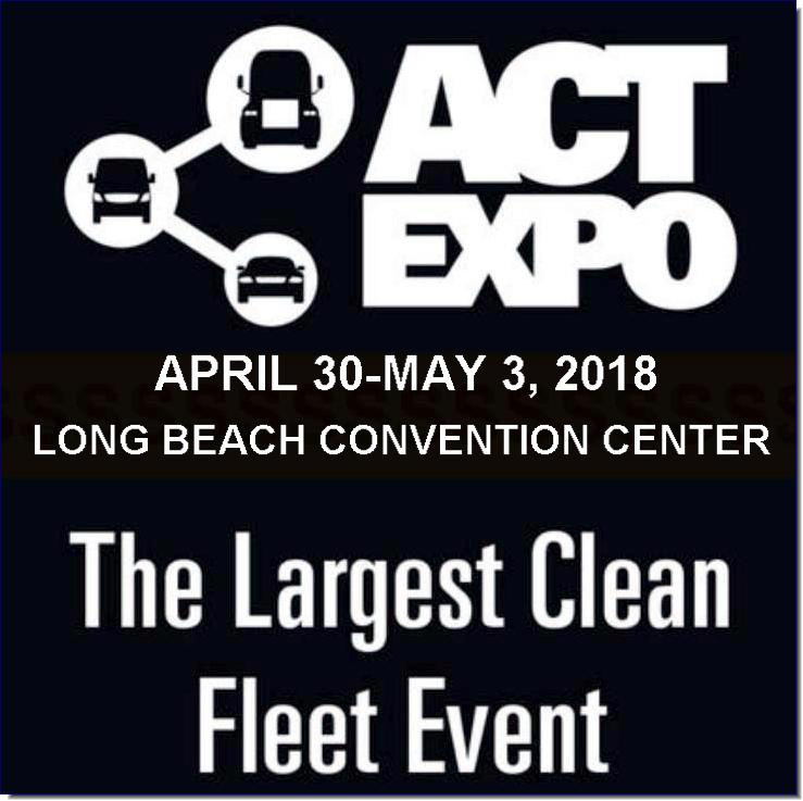 The Largest Clean Fleet Event. All Alternative Fuels. All Weight Classes.  Join us April 30–May 3, 2018, at the Long Beach Convention Center in Southern California for the 2018 Advanced Clean Transportation (ACT) Expo. All weight classes and alternative fuel types are represented—electric, hybrid, hydrogen, natural gas, propane autogas, and renewable fuels—providing a one-stop shop for fleets to learn how to reduce costs and emissions.