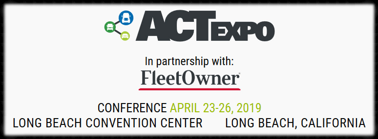 The Largest Advanced Transportation Technology & Clean Fleet Event  Join us April 23–26, 2019, at the Long Beach Convention Center in Southern California for the Advanced Clean Transportation (ACT) Expo, North America's leading conference and expo showcasing the real-world application of the latest transportation technologies, drive trains, and clean fuels. ACT Expo combines the best educational content in the industry with a cutting-edge trade show floor showcasing the most innovative technologies on the market today. Connected vehicle technologies, fuel efficiency improvement strategies and equipment, and drivetrain electrification will be key focal points for the 2019 show, set against the backdrop of increased use of alternative fuels, innovative powertrain solutions and economic & environmental fleet sustainability.