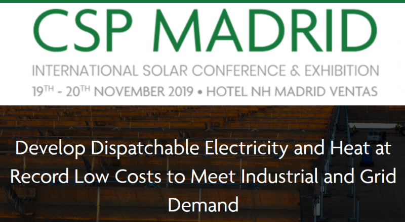 Sponsorship and Exhibition: The ideal platform for networking and having 1 to 1 meetings with the global CSP industry  Sponsors and Exhibitors at CSP Madrid 2019 are perfectly positioned to network and grow their CSP business.