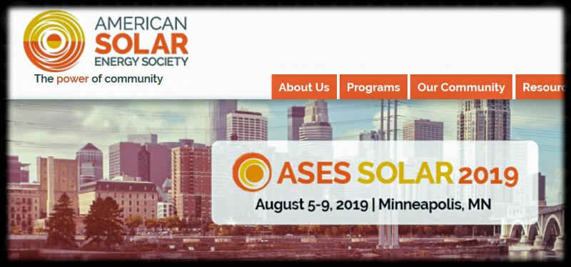 The American Solar Energy Society believes that supplying 100% of America's electricity with renewable energy is not only possible but urgently necessary.  As attendees at the SOLAR 2018 ASES conference heard, we need to decarbonize our economy by the middle of THIS century in order to have any chance of constraining the global temperature increase to less than 2 °C, which in itself will be disruptive to humankind.  ASES represents the scientists, educators, and activists who can provide renewable energy technologies and solutions for climate action in the United States that will have an impact within the next five years.  The ASES SOLAR 2019 Conference will focus on those strategies.