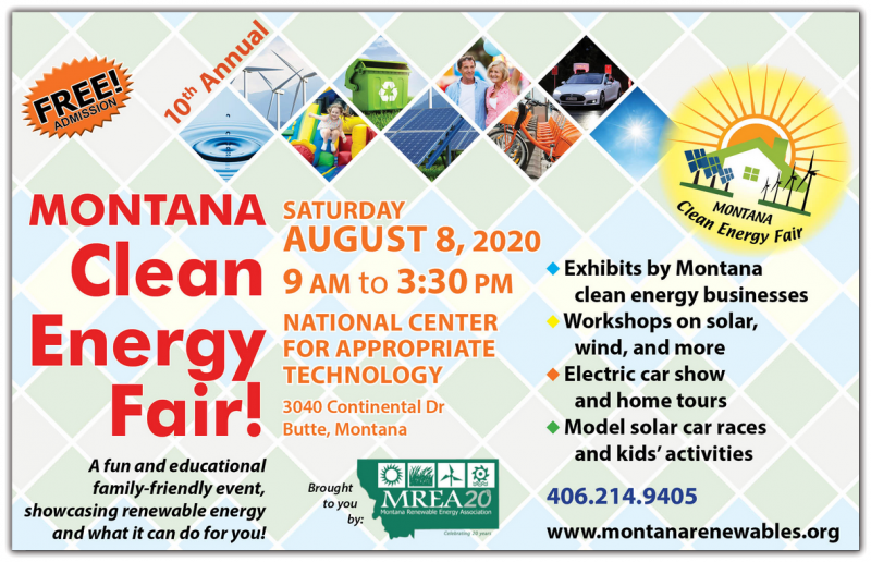 This year, MREA is celebrating our 20th anniversary as an organization and our 10th year organization the Montana Clean Energy Fair. To honor the occasion, we will be bringing the Fair back to Butte – where both MREA and the Fair were started. We can't be more excited – check back for more information! 10th Annual Montana Clean Energy Fair heads to Butte, America on Saturday, August 8th!