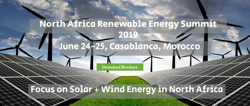 North Africa Renewable Energy Summit 2018 will be held in Casablanca in May 9-10, 2018. It will focus on the Solar & Wind power decelopment in Morocco, Egypt, Algeria and Tunisia.  It is expected that more than 300 decision makers will join the event and share the latest news in the renewable energy development in North Africa.