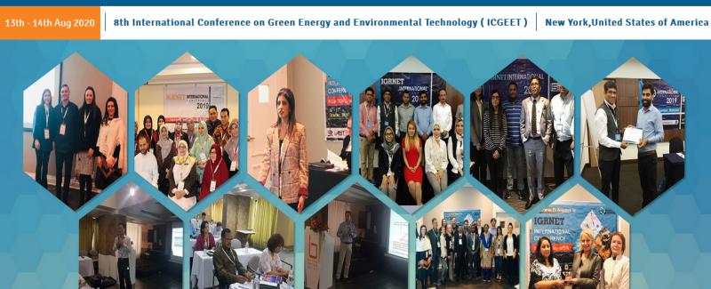 2020 8th International Conference on Green Energy and Environmental Technology (ICGEET-2020) will be held in New York,United States of America during 13th Aug-14th Aug 2020.  Energy and environment are co-related in the technological and scientific aspects including energy conservation, and the interaction of energy forms and systems with the physical environment.