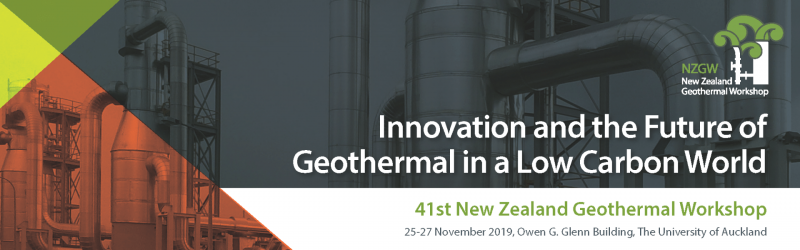 The New Zealand Geothermal Workshop will happen from 25-27 November 2019 at the Owen G. Glenn Building, The University of Auckland (12 Grafton Rd, Auckland) Typical Workshop Format  Day 1: – Keynote presentation(s) – Research based presentations run concurrently in 3 – 4 presentation rooms – Poster presentations available throughout the day – Industry exhibitions available throughout the day – Welcome Function in the evening  Day 2: – Keynote presentation(s) – Research based presentations run concurrently in 3 – 4 presentation rooms – Poster presentations available throughout the day – Industry exhibitions available throughout the day – Workshop Dinner in the evening  Day 3: – Mix of industry update and research presentations – Workshop close, mid to late afternoon