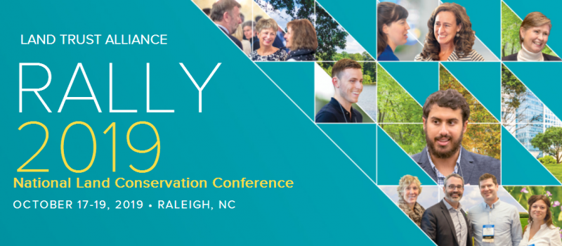 Learn, Connect and Grow at Rally  Rally is where 2,000 people who share your passion for conservation will re-energize and inspire you — Watch what it's all about.  Join us this year in Raleigh, NC, October 17-19, 2019, for a gathering packed with diverse topics to explore and great colleagues and friends to learn and share with. Rally has all of the resources you want to take your conservation skills further. There's no better time or place to invest in your future!  Can't wait to see you there!