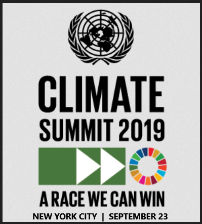 UN Secretary-General Antonio Guterres will convene a summit to mobilize political and economic energy at the highest levels to advance climate action that will enable implementation of many of the goals of the 2030 Agenda for Sustainable Development.  The UN 2019 Climate Summit will convene on the theme, 'Climate Action Summit 2019: A Race We Can Win. A Race We Must Win.' It will seek to challenge states, regions, cities, companies, investors and citizens to step up action in six areas: energy transition, climate finance and carbon pricing, industry transition, nature-based solutions, cities and local action, and resilience.