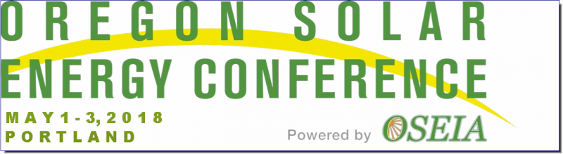 The Oregon Solar Energy Conference is the nations best solar conference. In 2017 we hosted over 430 attendees representing over 170 companies. We had over 30 exhibitors and sessions ranged from technical training to business training to solar policy. Join us in 2018 for another amazing event.