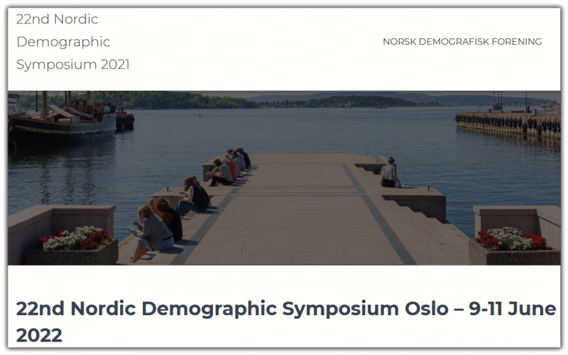 Due to the uncertain situation with COVID-19, and after consulting with the other Nordic Demographic Associations, we have decided to postpone the Nordic Demographic Symposium in Oslo to 9-11 June 2022 (initially scheduled to 10-12 June 2021).  Updated important dates and renewed Call for papers to follow at a later date.