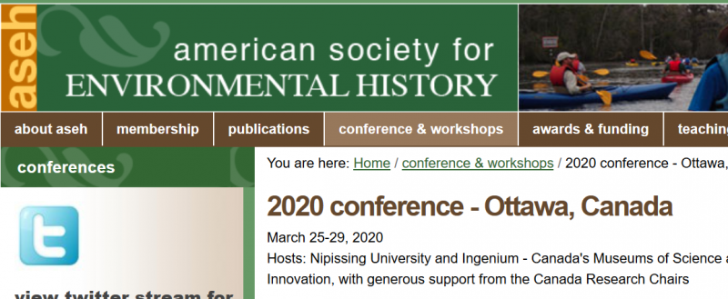 The American Society for Environmental History (ASEH) advances understanding of human interactions with the natural world by promoting historical research and teaching, and fostering dialogue about human use of the earth among humanists, social and environmental scientists, and the public. Its efforts benefit humankind by illuminating the past and providing perspective on current environmental issues.  ASEH promotes these interests globally through its peer-reviewed journal Environmental History, annual conferences, scholarly awards and fellowships, online discussions, conversations with other professional societies, and public outreach.