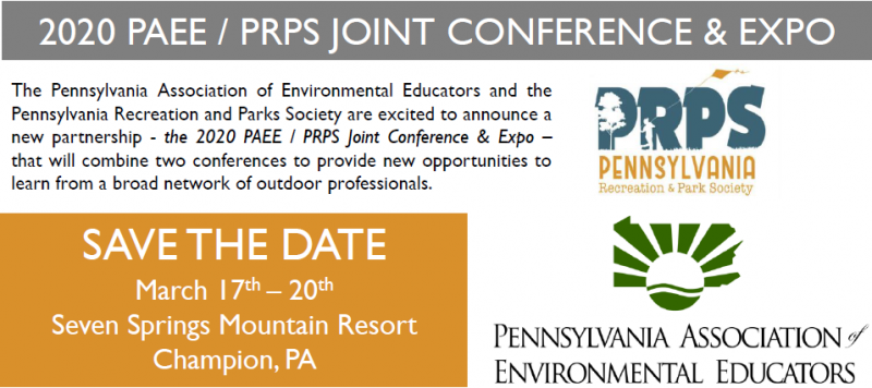 The 2020 Conference Committee is emphasizing sessions that fall within the following program paths with a focus on the conference theme: Live, Learn, Play  The Pennsylvania Recreation and Park Society and Pennsylvania Association of Environmental Educators Conference Committee is seeking proposals for educational sessions to be presented at their 2020 Joint Annual Conference & Expo. The Conference will be held Tuesday-Friday, March 17-20 at Seven Springs Mountain Resort, Champion, PA. The conference will be attended by over 500 persons involved in the broad field of recreation, parks, environmental education, and conservation.