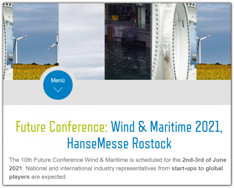 The 10th Future Conference Wind & Maritime is scheduled for the 2nd-3rd of June 2021. National and international industry representatives from start-ups to global players are expected.  Information exchange and networking for new business of the expected 250 national and international participants are the objective.