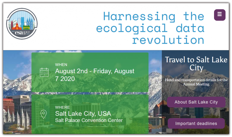 Harnessing the ecological data revolution Official logo of the 2020 ESA Annual Meeting shows a cityscape in the foreground with mountains in the background and it is raining 1's and 0's (binary) digits.  Like many science fields, the ecological sciences are being flooded by massive and diverse sources of information. For example, remote sensing platforms, automated sensors, observatory networks, molecular techniques, large-scale or replicated experiments, and predictive (simulation) models are generating enormous amounts of data over time and/or across space. Such big and diverse data are opening up new avenues of research and enabling ecologists to address more complex questions and hypotheses that, for example, span multiple scales and disciplines.