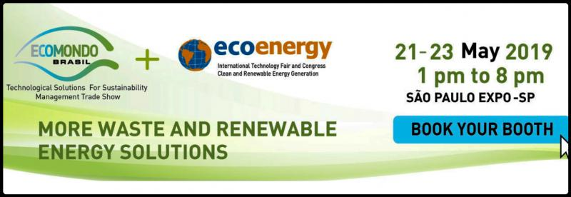 In an unprecedented initiative in the sector, Ecomondo Brazil and Ecoenergy will work together in 2019.  All the expertise of one of the most important fairs of green economy in Europe; Ecomondo Italy, will join forces with the biggest renewable energy event in Latin America. The latest and trends on Waste Management (Urban, Industrial and Automotive) and Energy (Biogas and Biomass), in a B2B environment, bringing together industry professionals, service providers, research centers and public and private sector administrators. 3 days of relevant content, exhibition of products and services and many business opportunities.