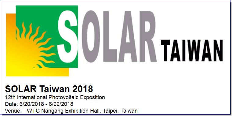 Solar Taiwan distinguishes itself from other similar exhibitions by summoning manufacturers from all sectors including crystal silicon, thin film, and HCPV providers to demonstrate their latest technologies and solutions in materials, components, equipment, and testing, thus showing the most desirable aspects of PV industry to buyers/visitors. Meanwhile, the organizer will host international conferences and exhibitor seminars to create the most business opportunities for the PV industry.  According to statistics of PIDA, the production value of the Taiwan PV industry approaches 6.3 billion US dollars and reaches a new peak, solidifying the role of Taiwan manufacturers in the global PV market