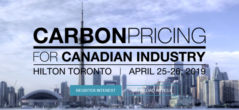 With the Federal Backstop and provincial carbon regulations coming into effect, Canadian industry is being challenged by new benchmarks, timelines, pricing and rules. Energy-intensive sectors are now very focused on understanding the risks and opportunities presented by new carbon regulations and developing strategies for emissions reductions.Through expert panels and in-depth presentations, Carbon Pricing for Canadian Industry, April 25-26, Hilton Toronto, will provide industry with critical insight on benchmarking carbon strategies and managing compliance across various jurisdictions.